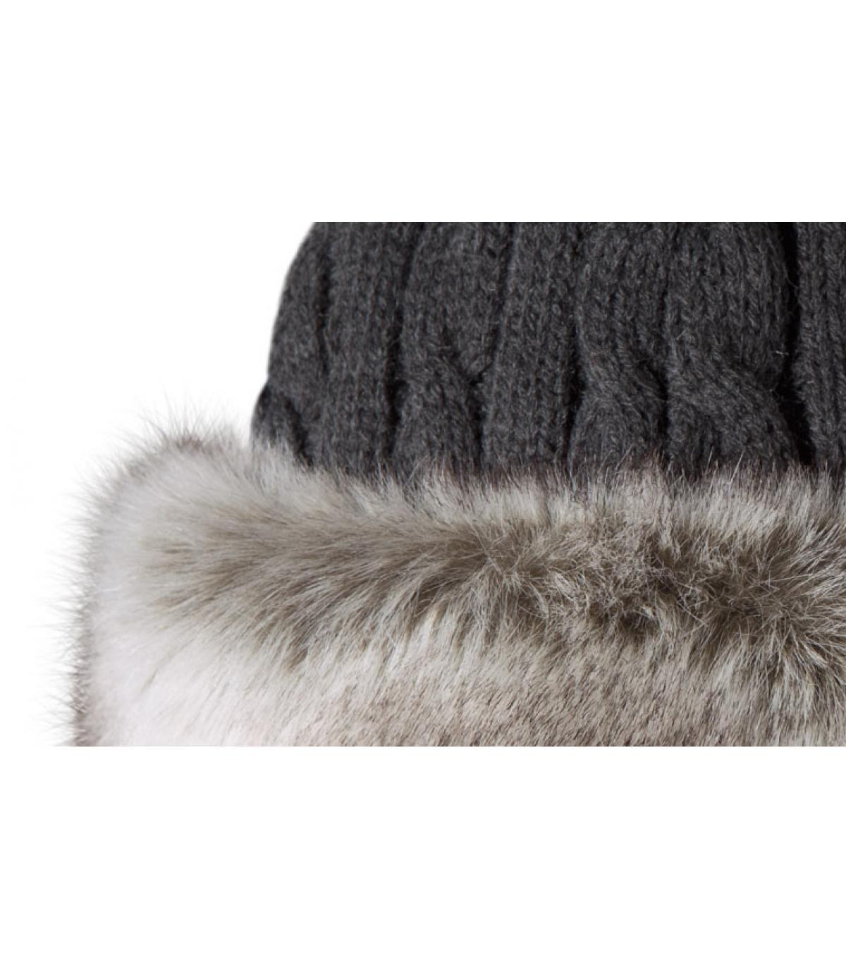 grey fur band head fur cable bandhat rabbit by barts. Black Bedroom Furniture Sets. Home Design Ideas