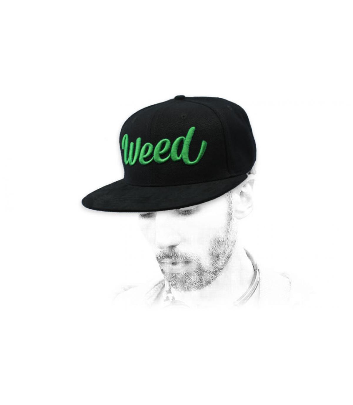 black weed snapback