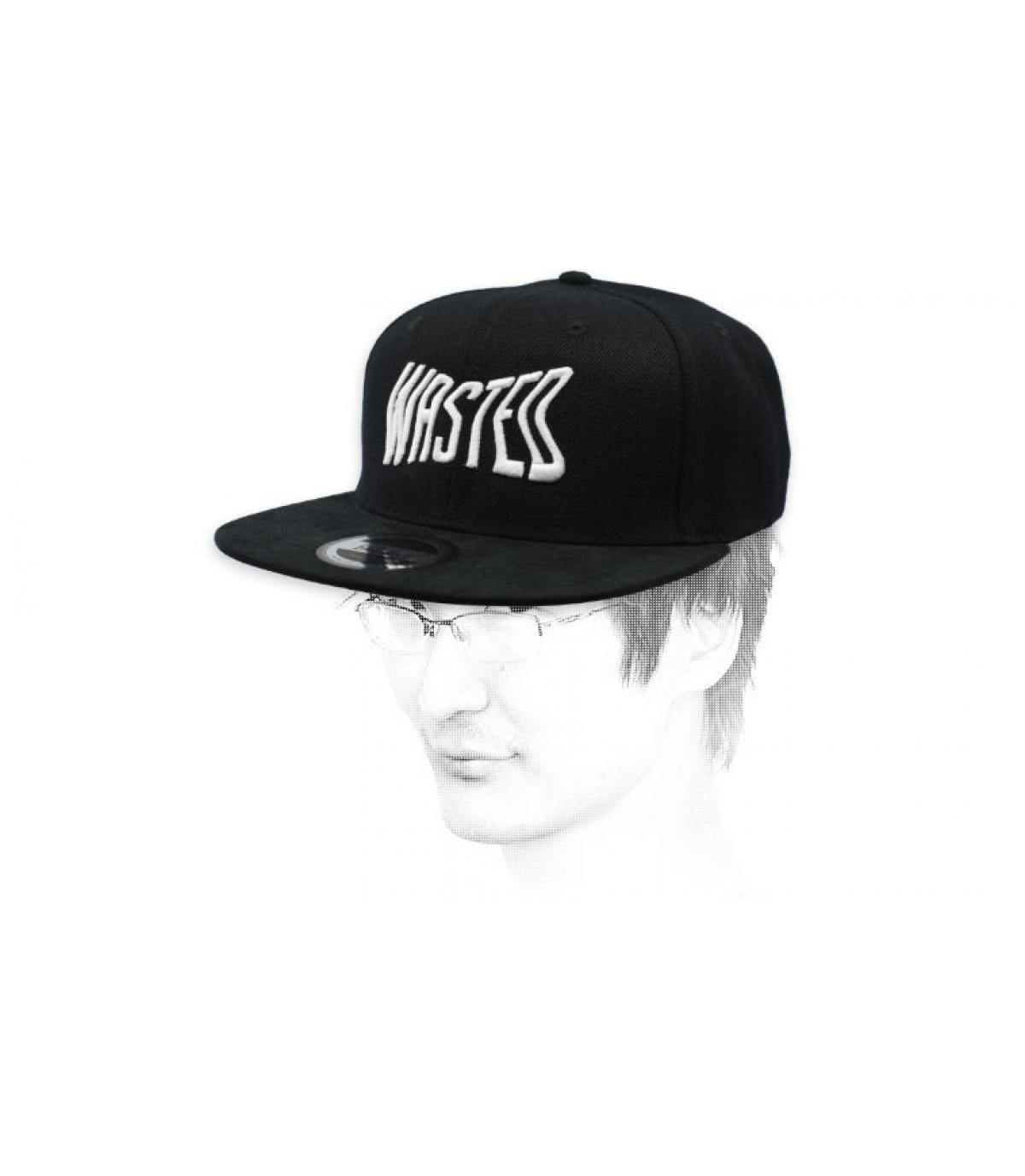 black wasted snapback