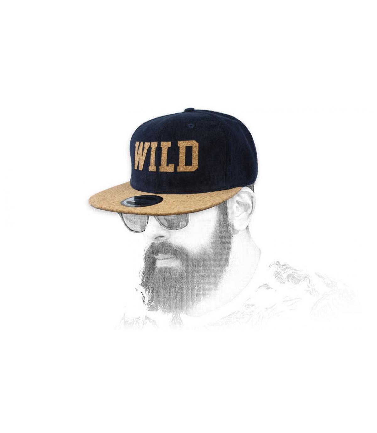 blue Wild snapback cork
