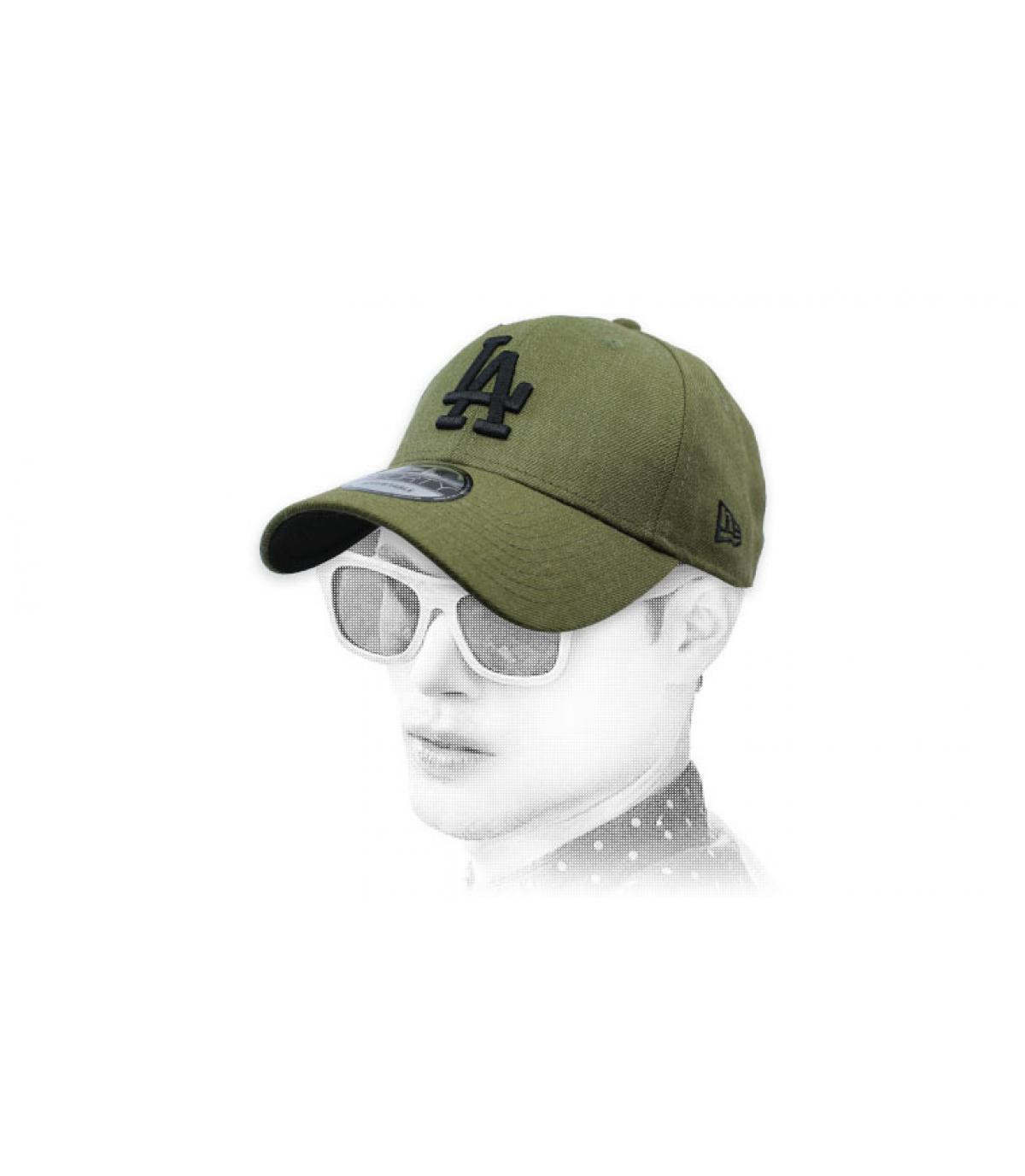 green A cap