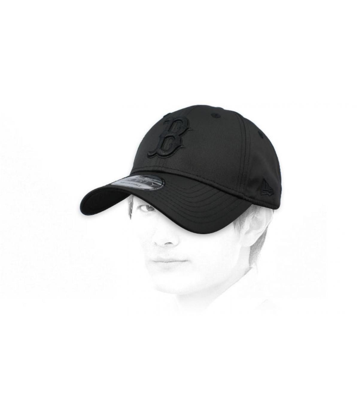 black ripstop B cap