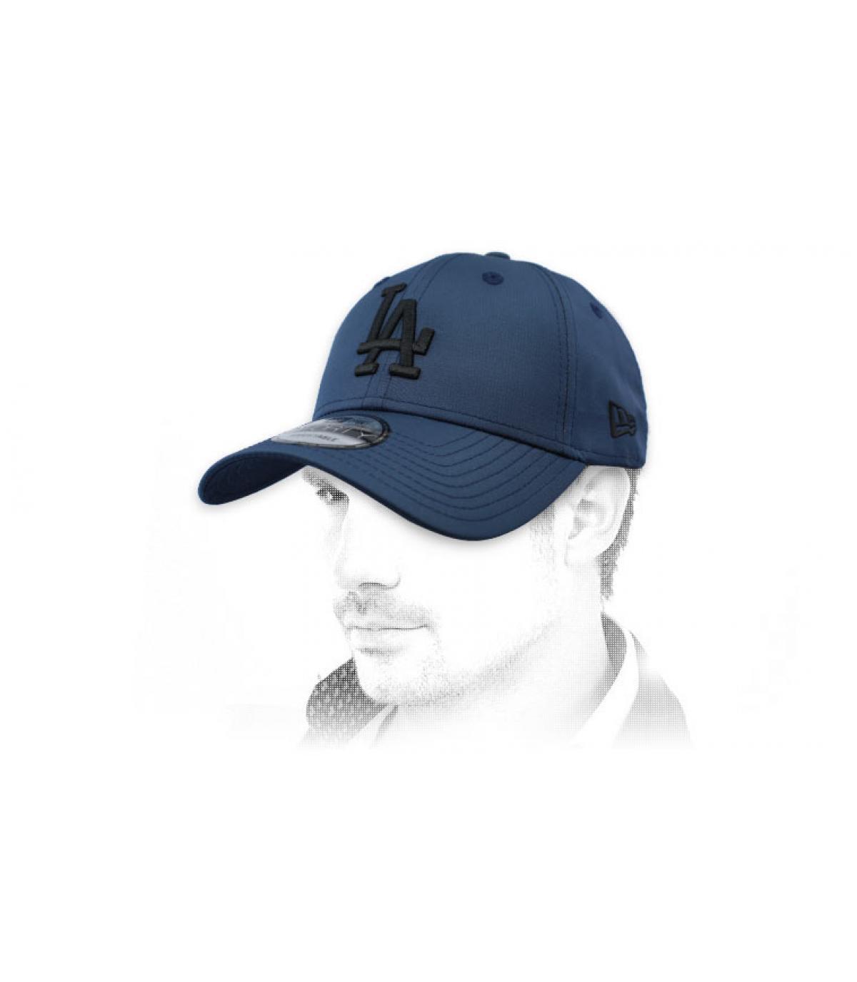 blue black LA cap