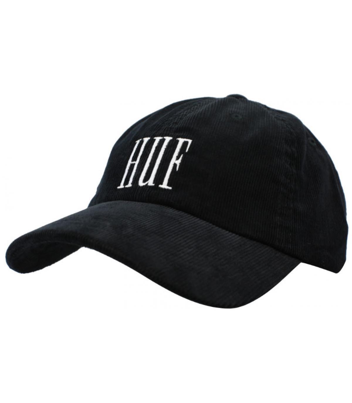 black Huf cap corduroy - Marka Corduroy licor Huf - image 1 ... 284ec5f6f51