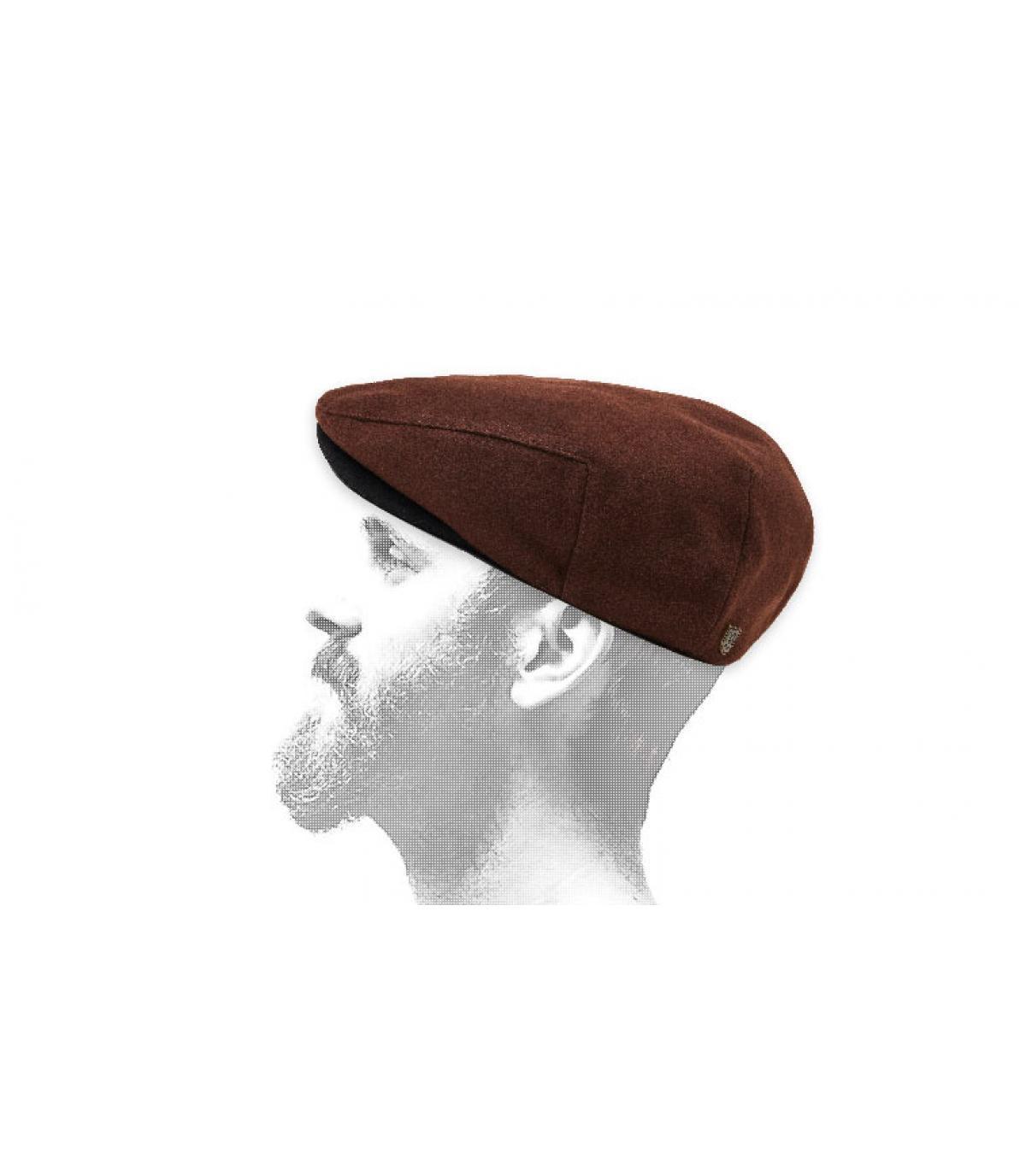 brown flat cap Brixton