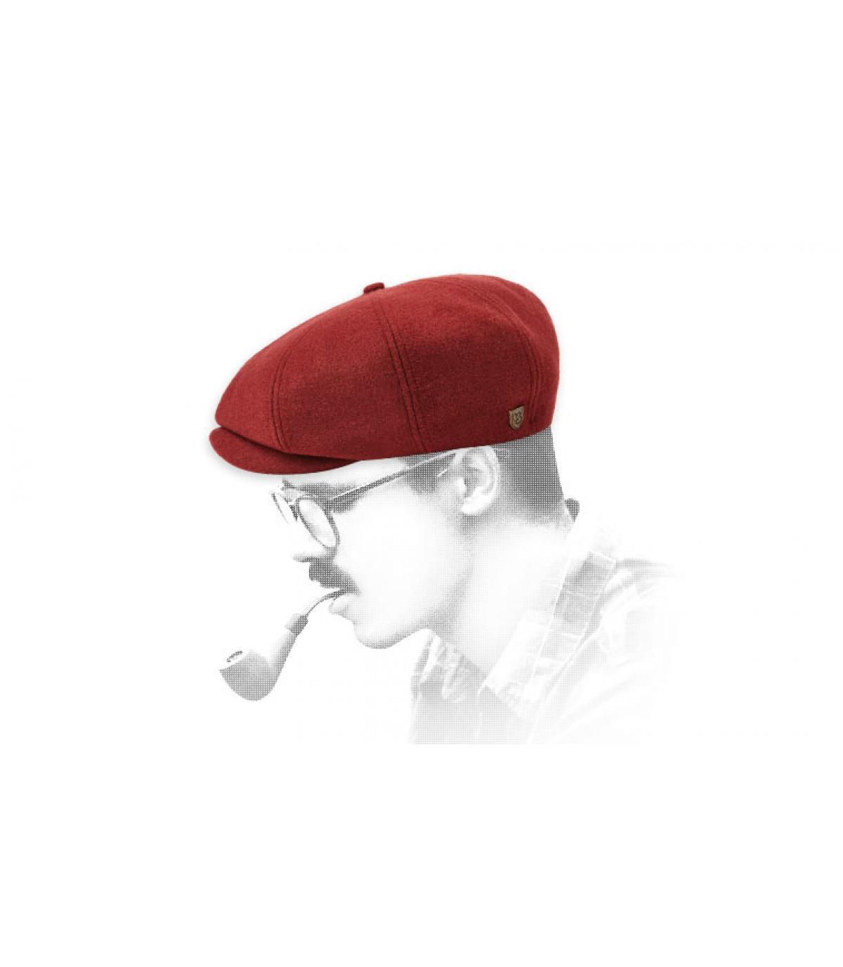 burgundy newsboy cap