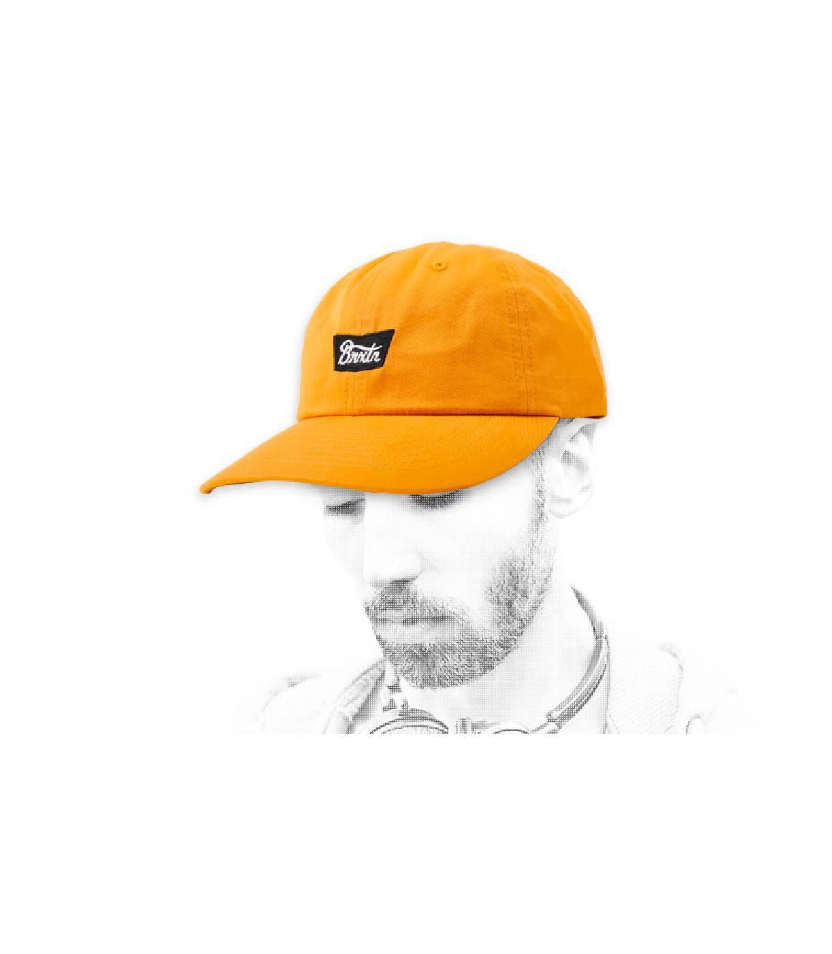mustard yellow cap