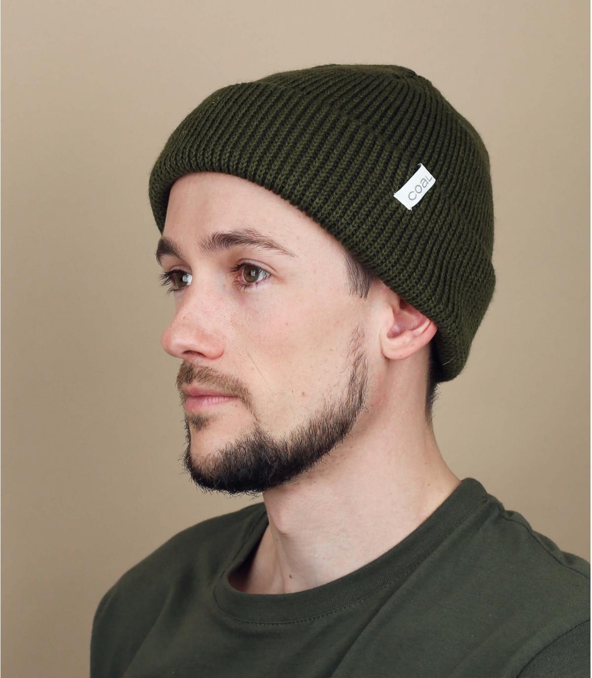Olive frena beanie hat