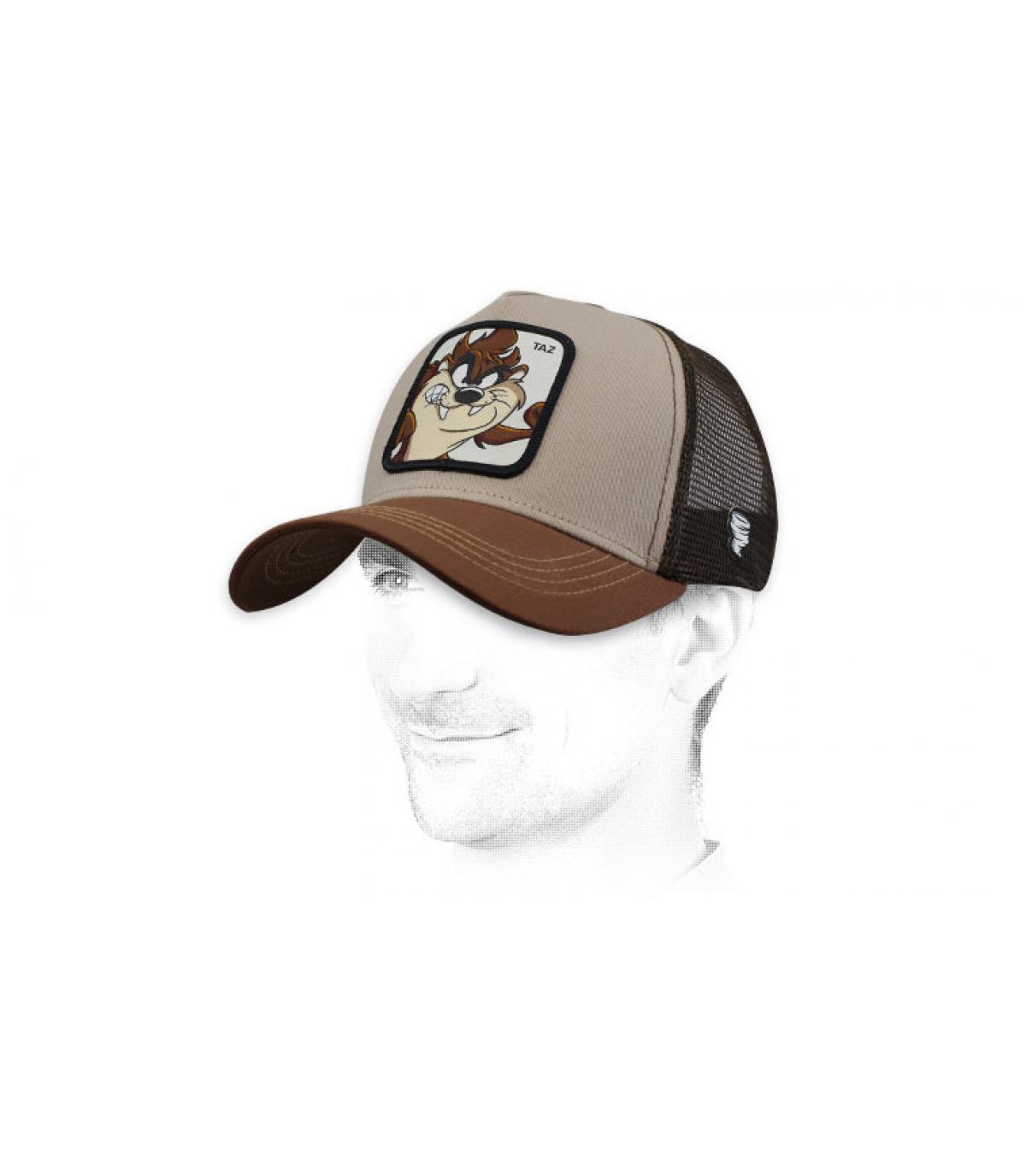 Taz khaki trucker cap