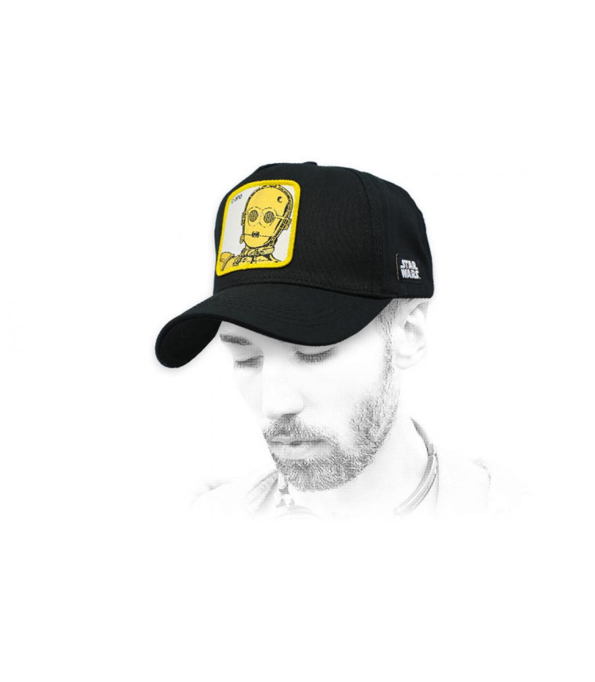 black C-3PO cap