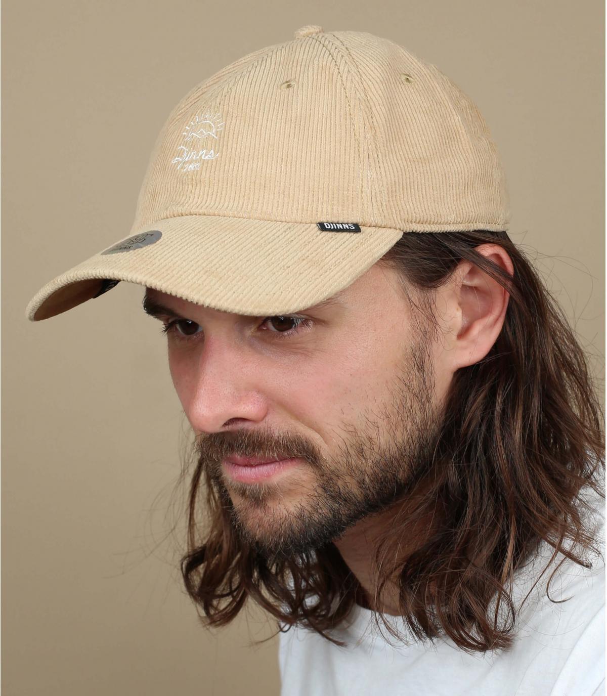 Djinns beige corduroy cap