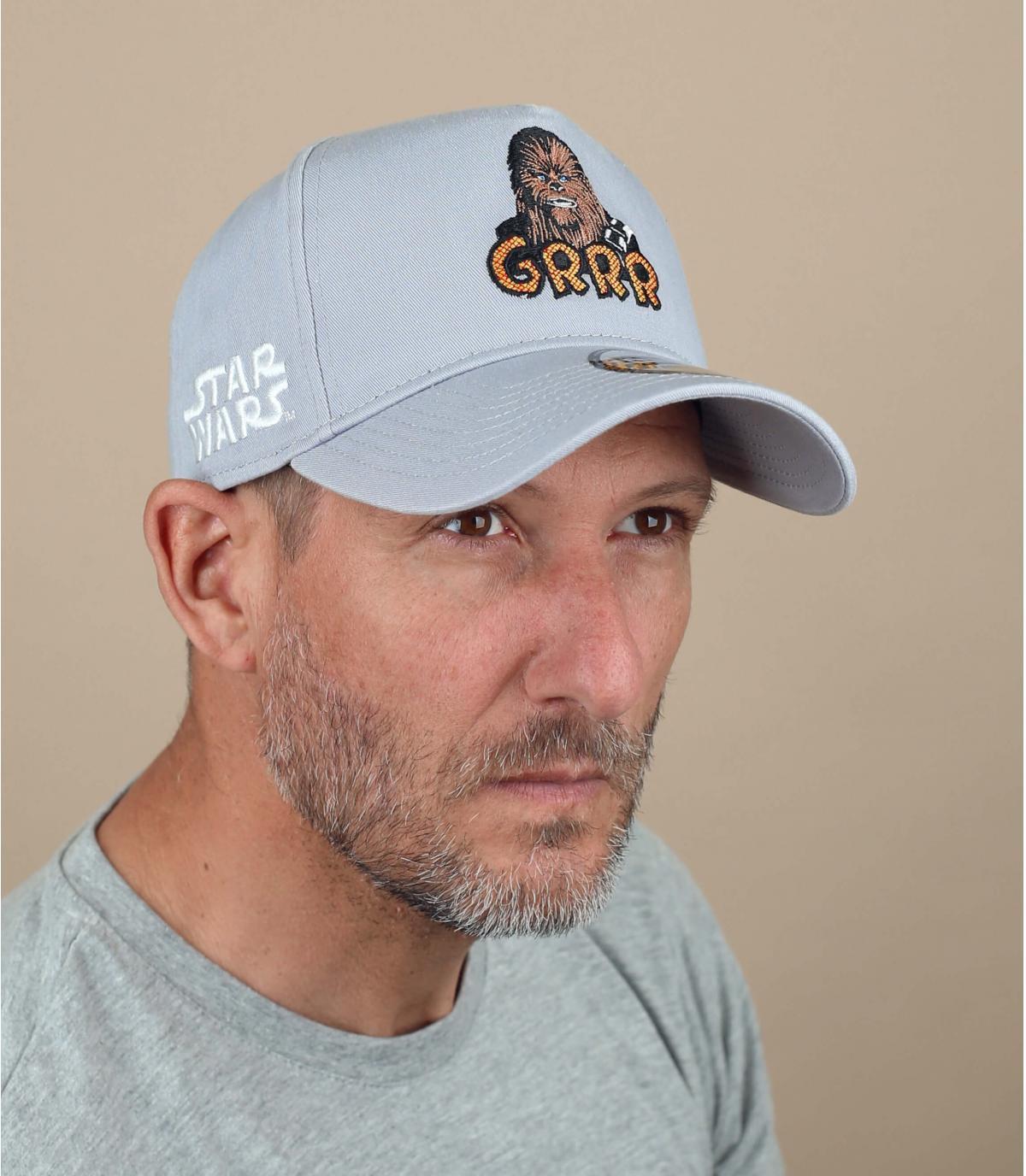 grey Chubacca cap