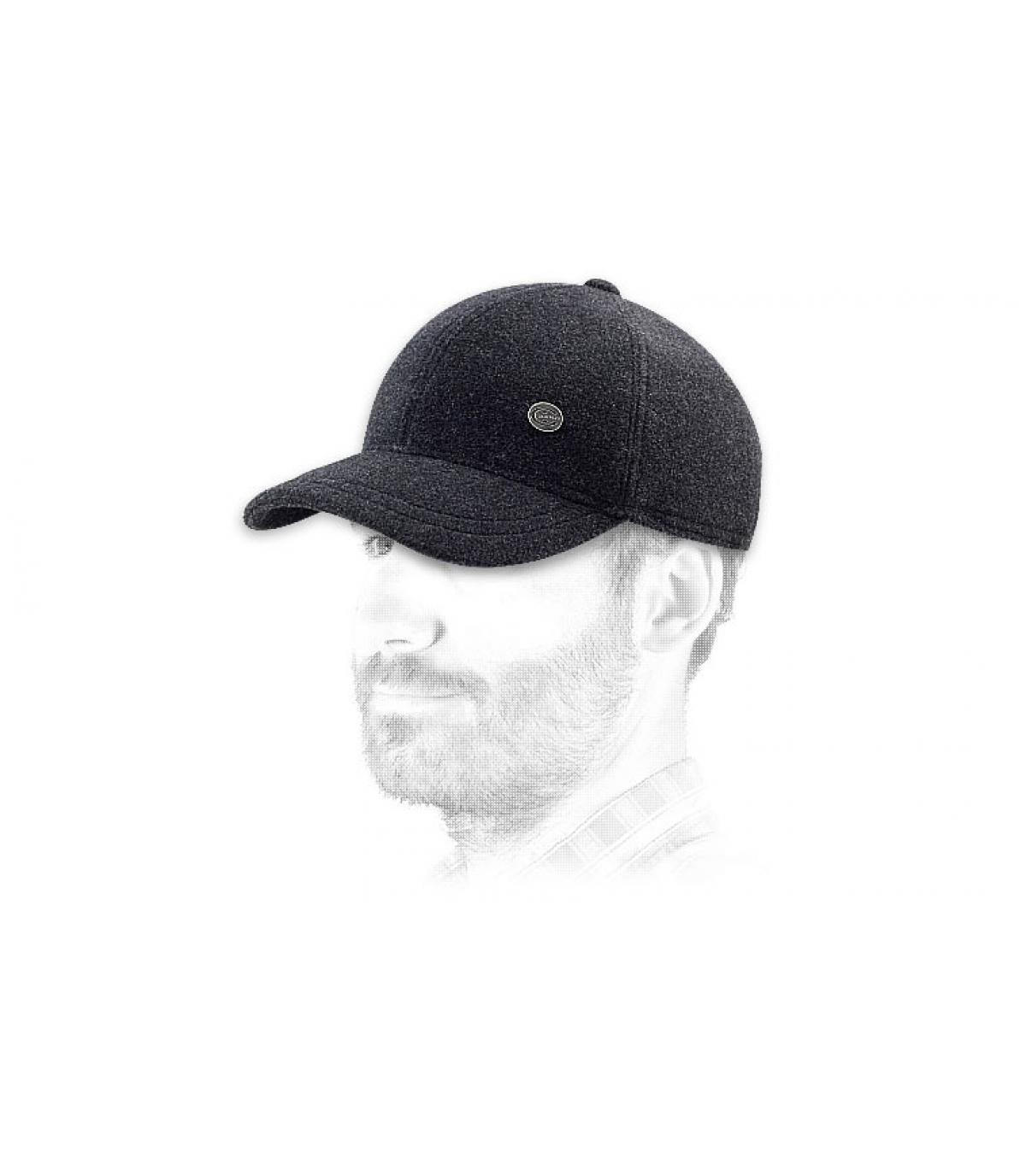 Grey felt cap