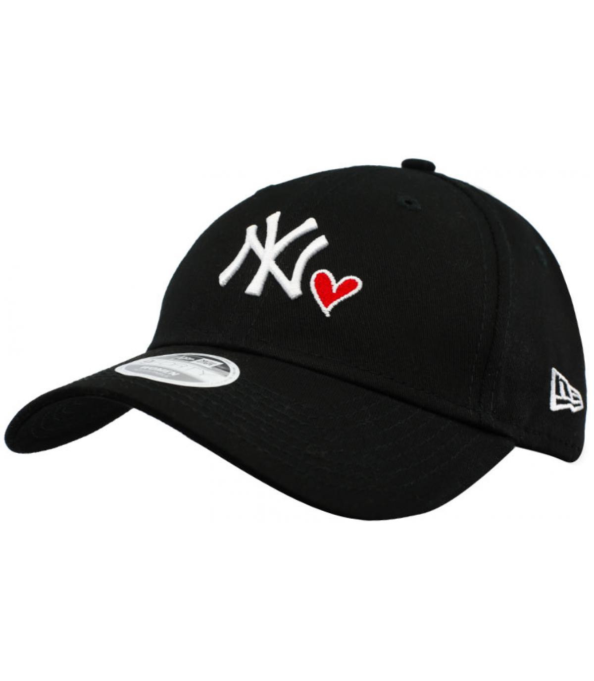 women black NY heart cap - Wmns Heart NY 940 black by New Era. Headict a55f20d725a