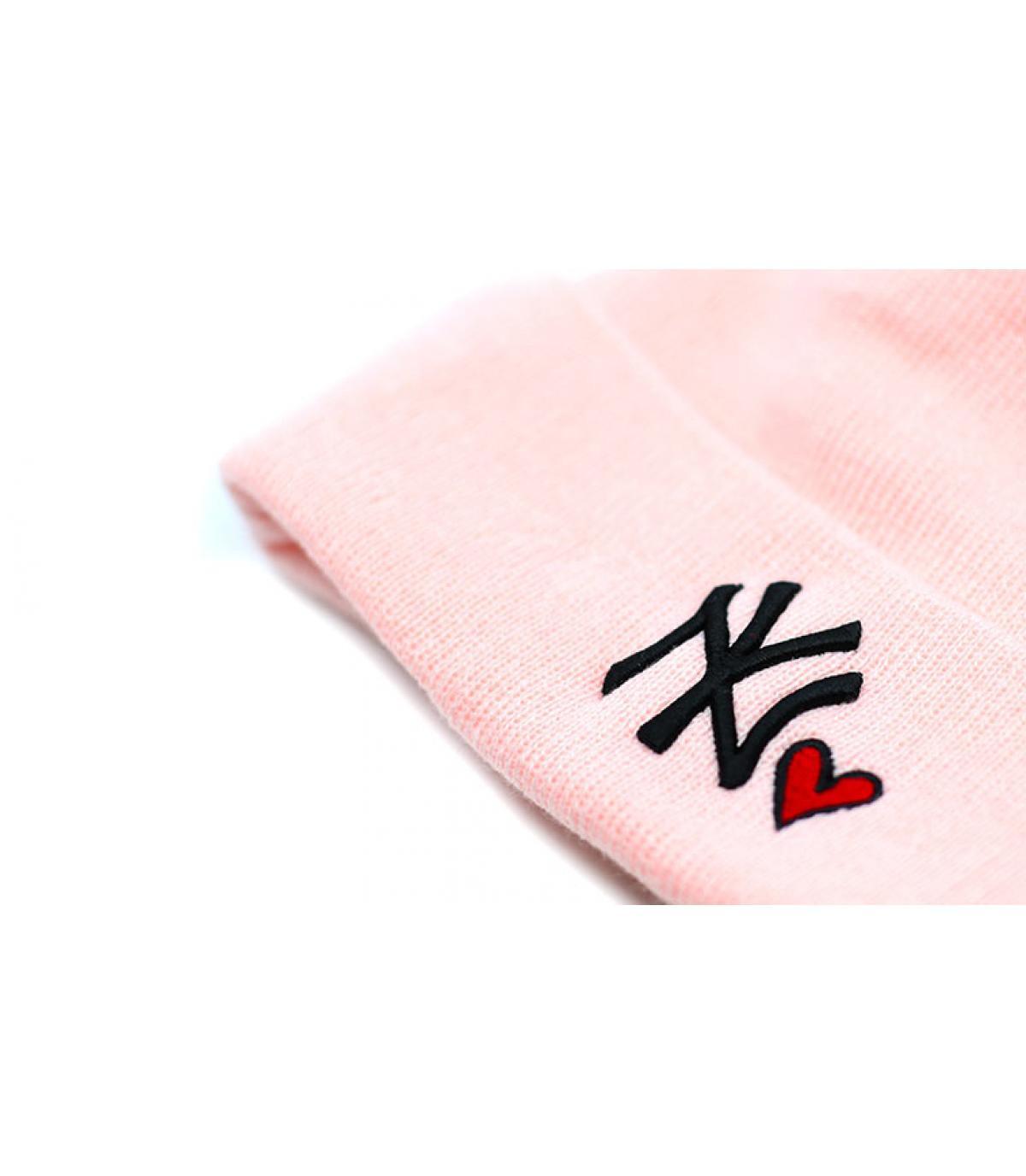 Détails Wmns Heart NY knit pink - image 3