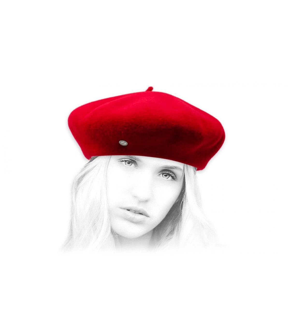 red cashmere flat cap