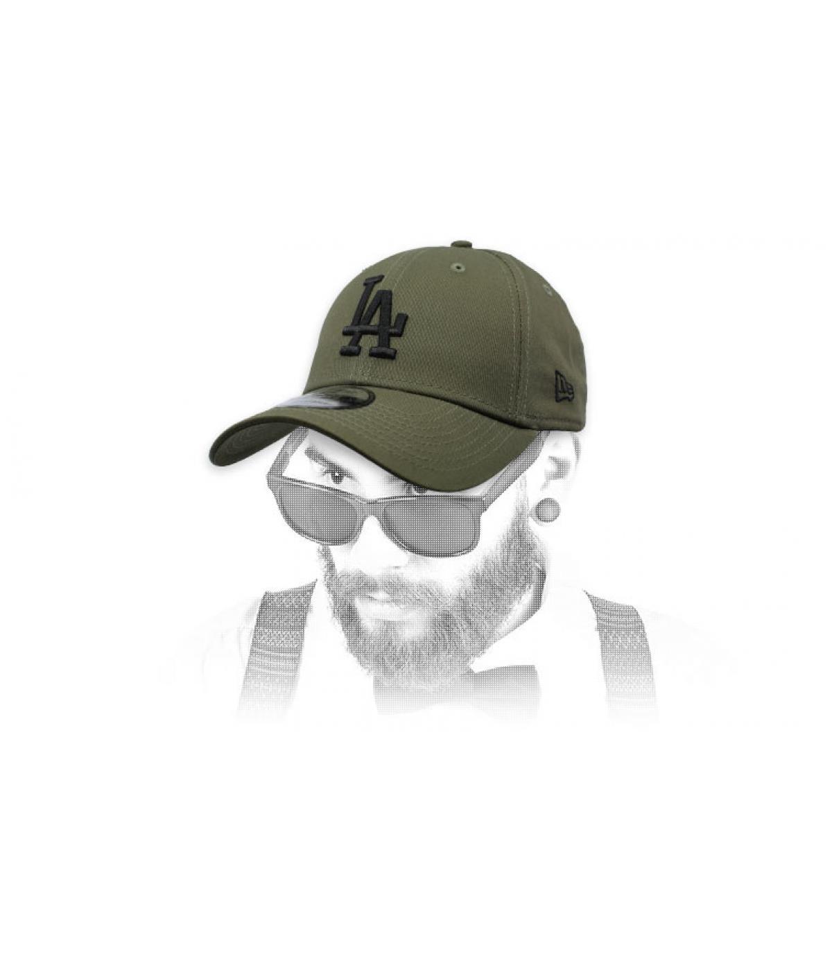 grey green LA cap