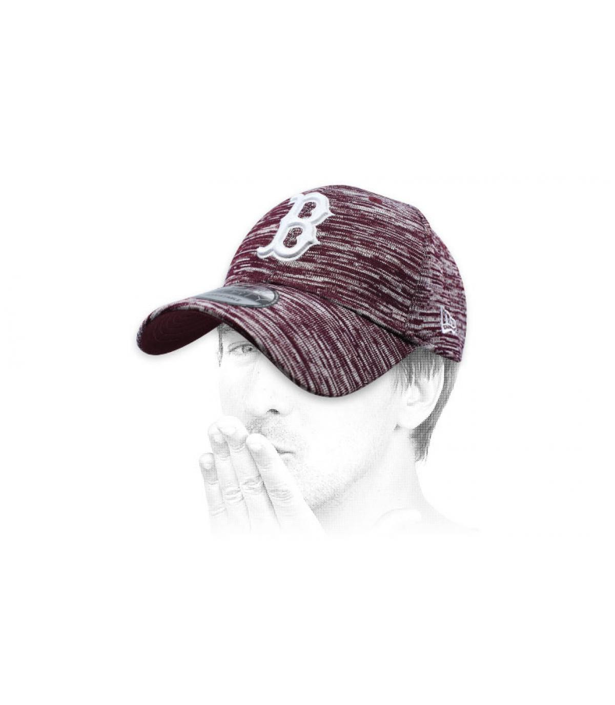 burgundy B cap Engineered
