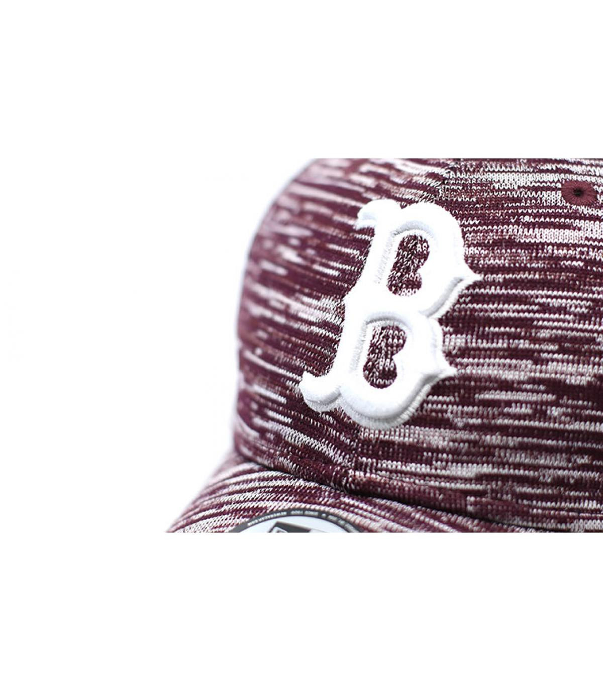 Détails Engineered Fit Boston 9Forty maroon - image 3