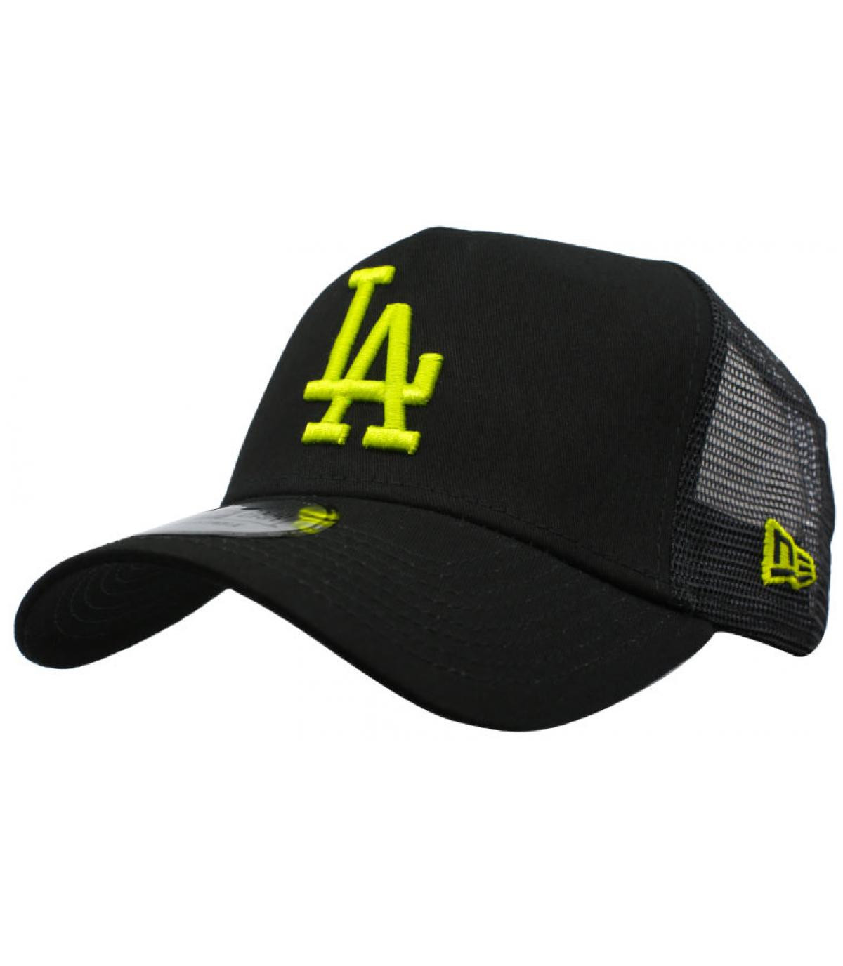 black yellow LA trucker