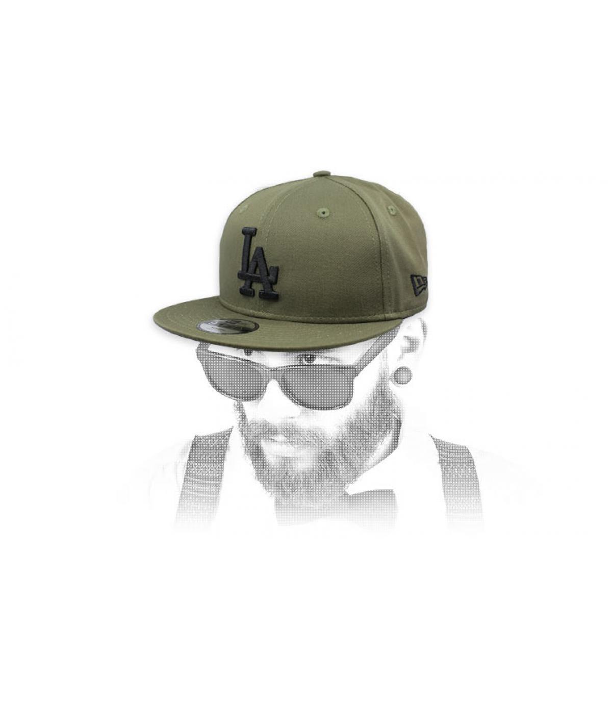 green black LA snapback