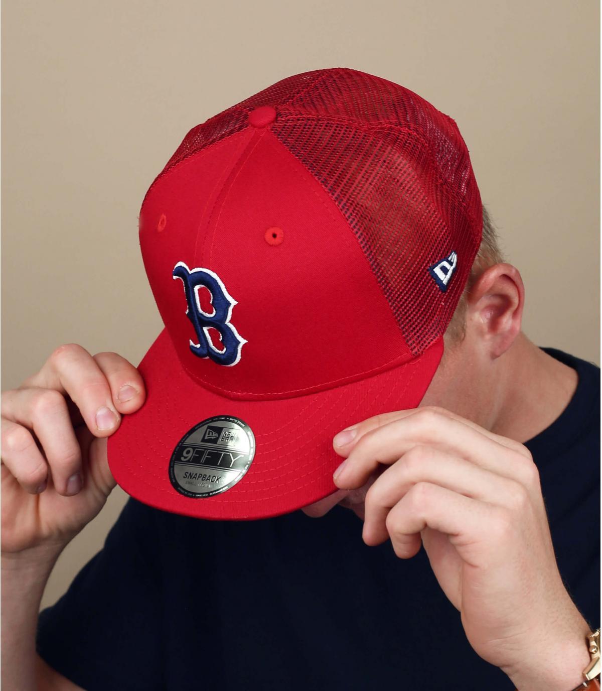 red B trucker