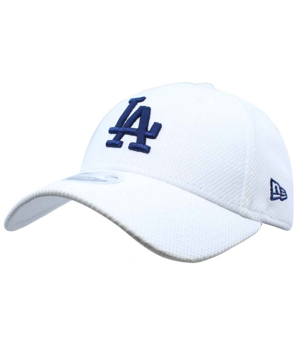 women LA cap white blue