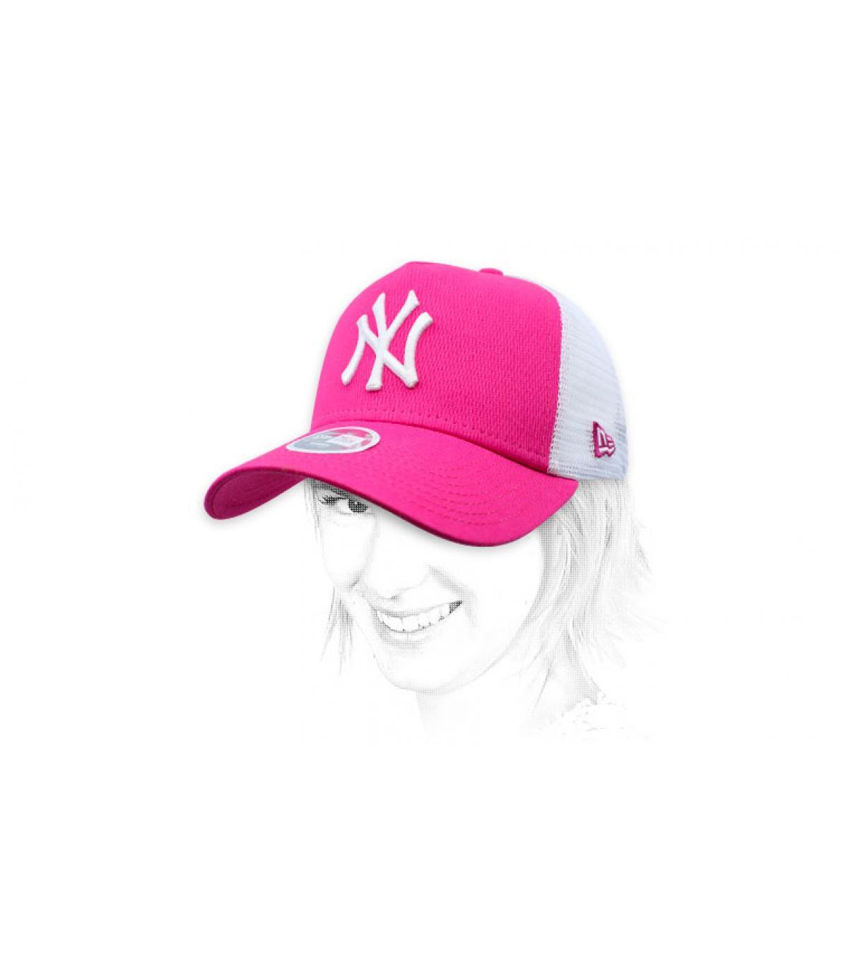 pink NY trucker women