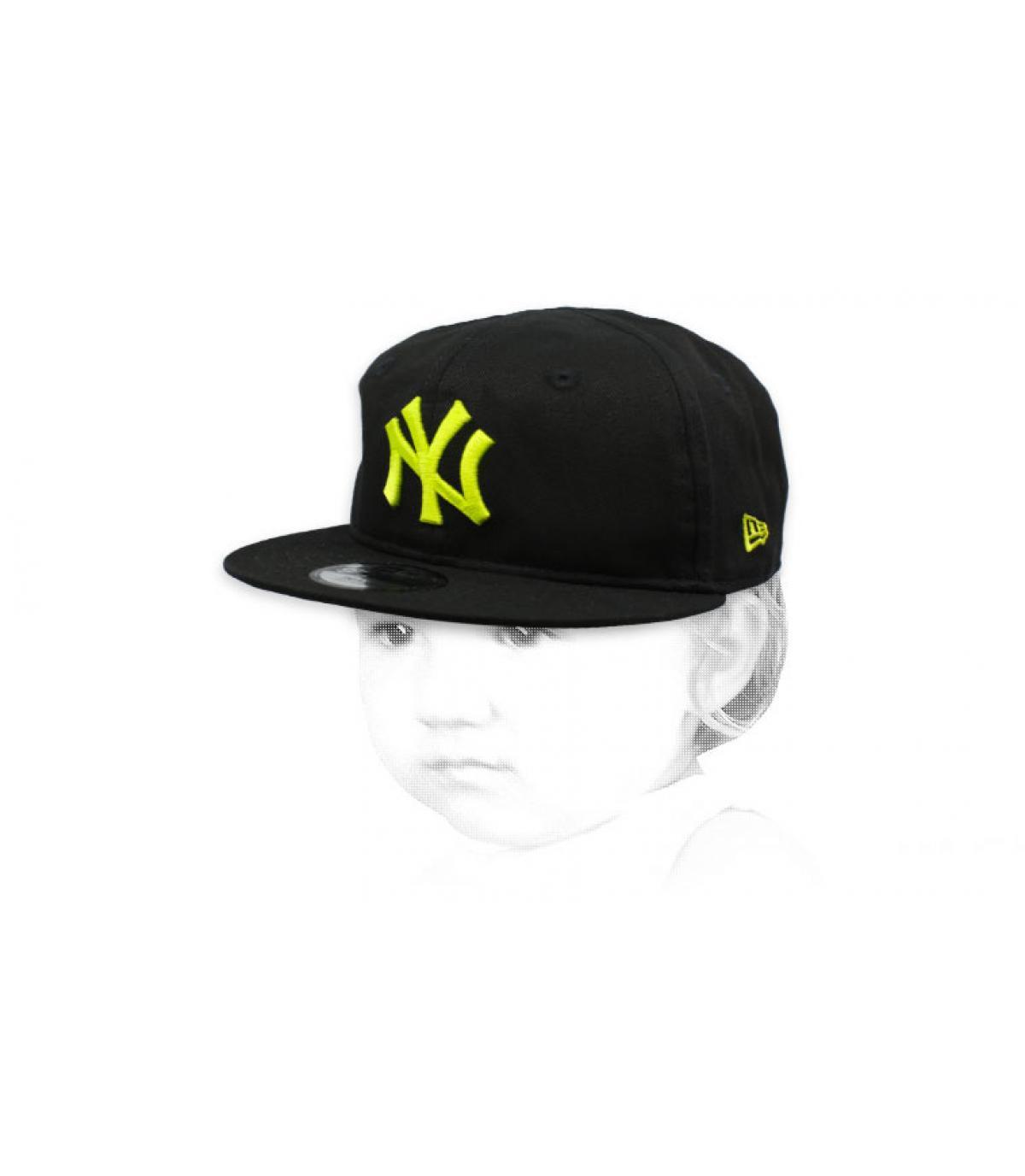 NY baby cap black yellow
