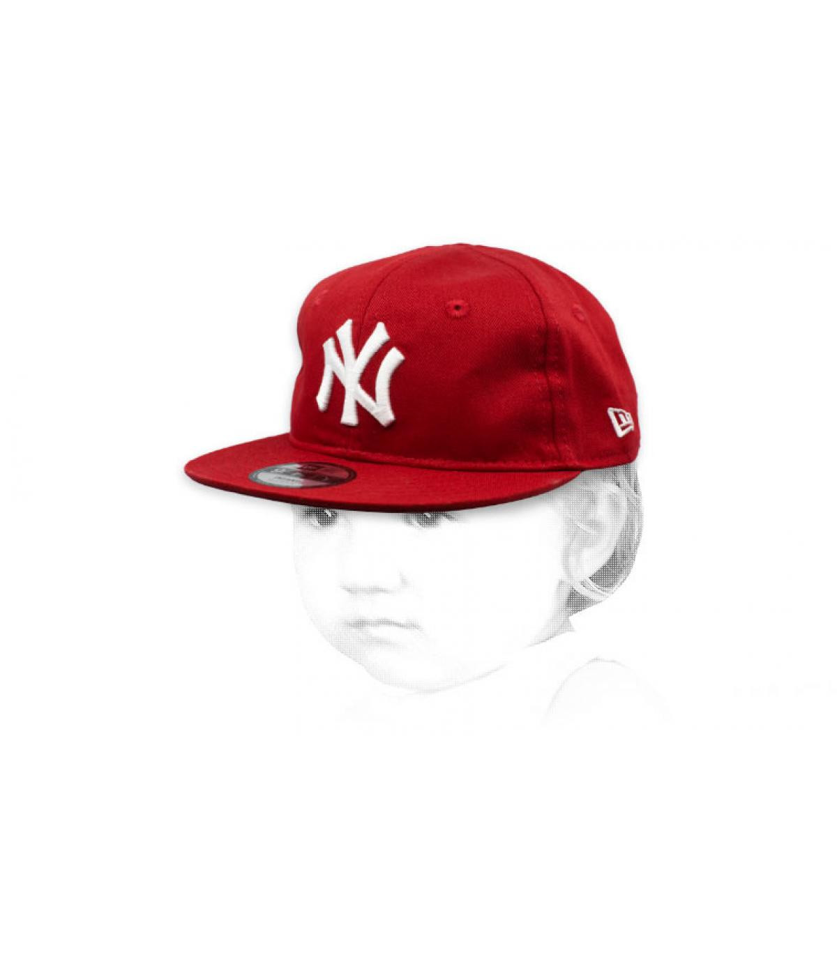 red and white NY baby cap
