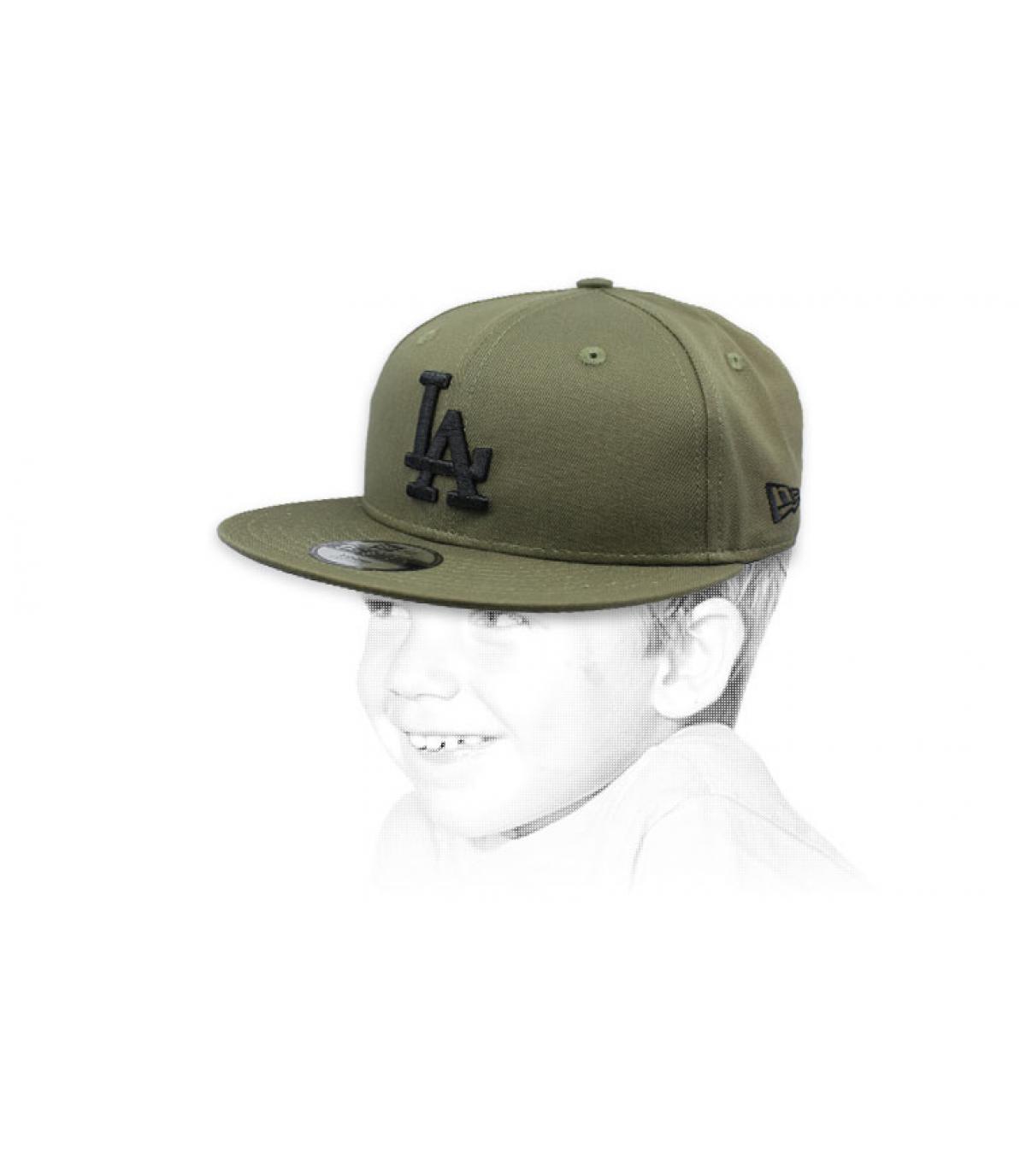 child green black LA cap