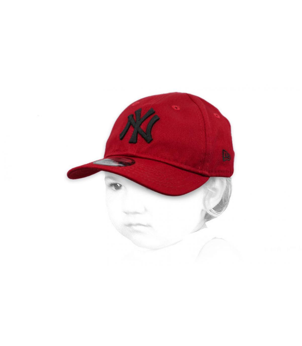 red NY baby cap