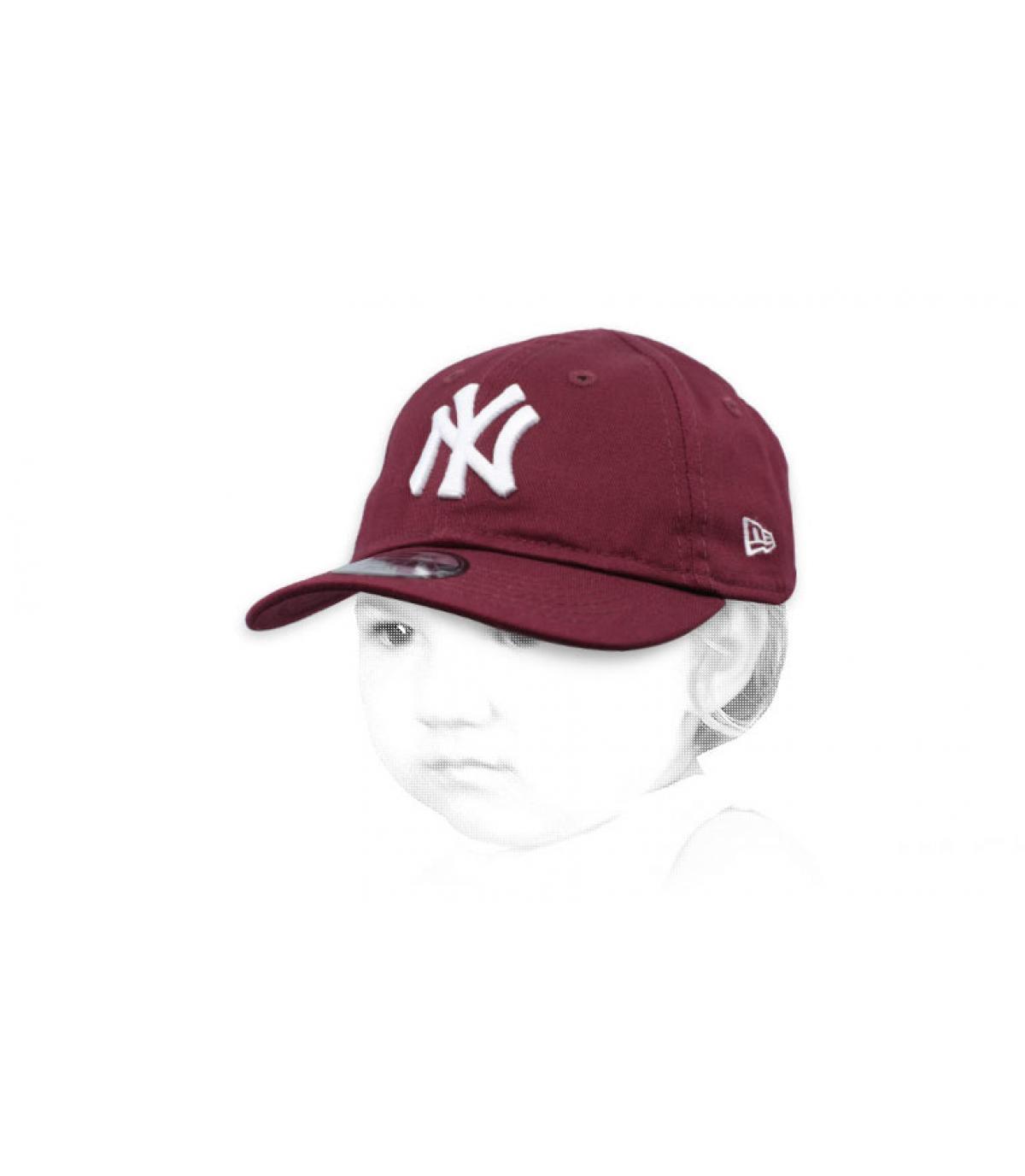 purple NY cap baby