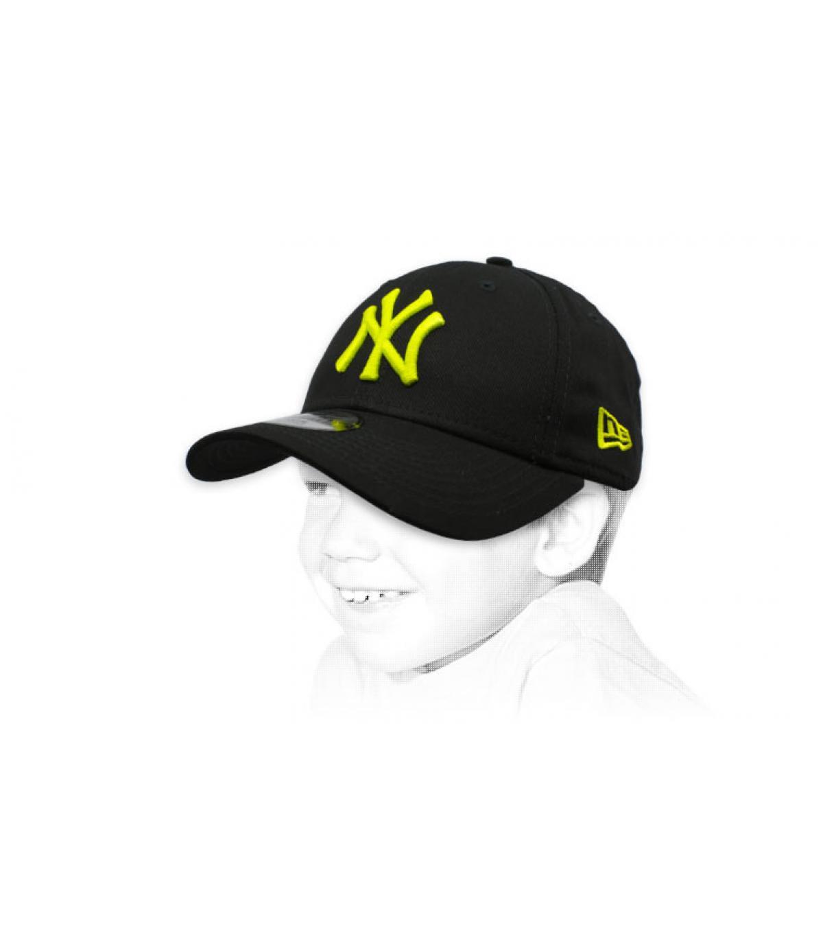 black yellow NY child cap