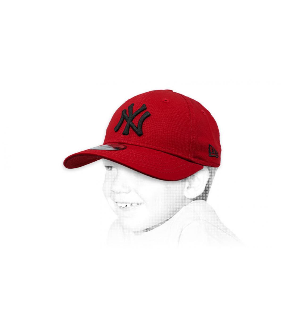 burgundy NY child cap