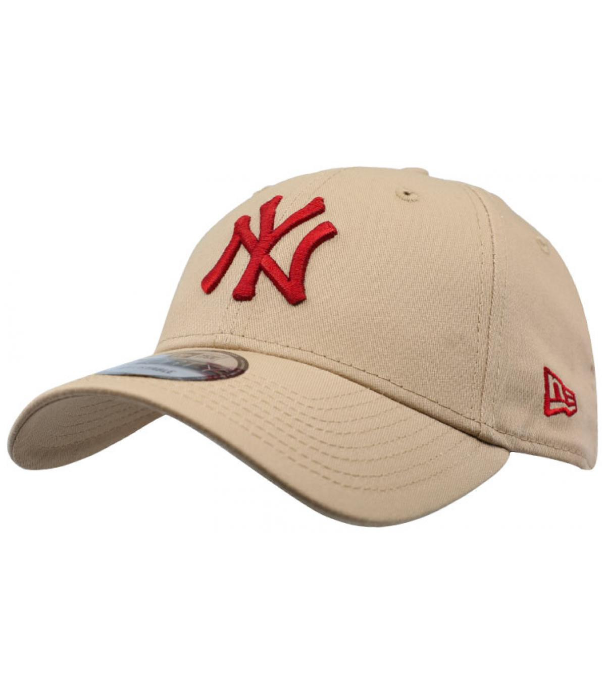 Détails Kids League Ess NY 9Forty camel hot red - image 2
