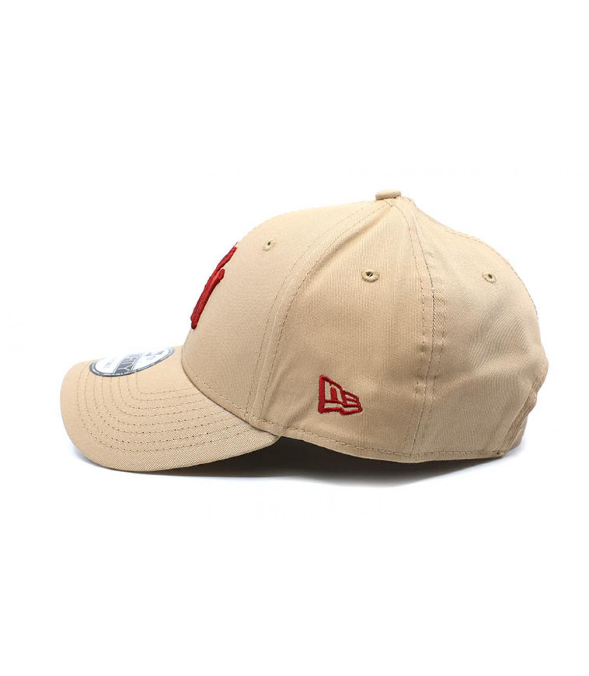 Détails Kids League Ess NY 9Forty camel hot red - image 4