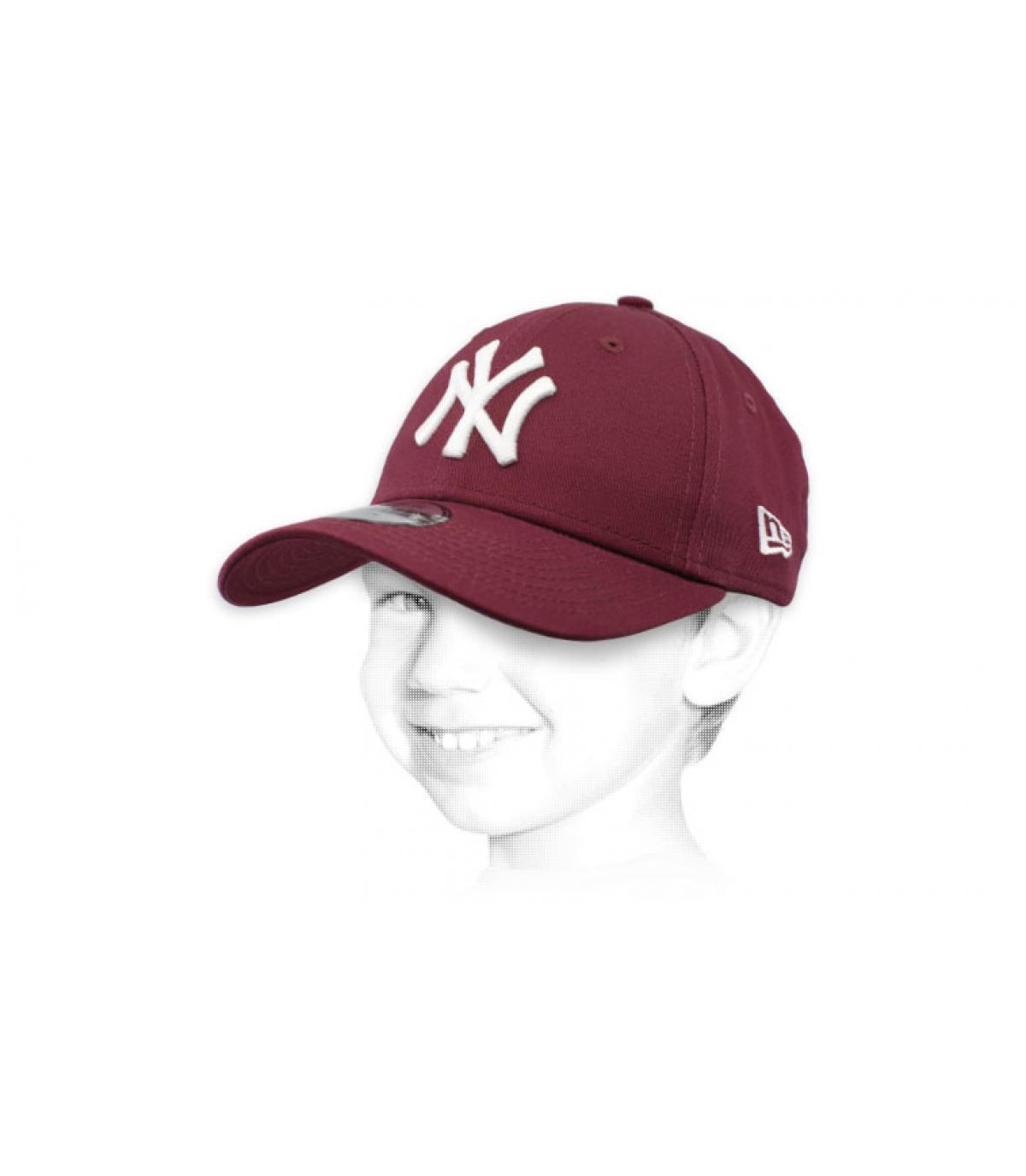 purple NY child cap