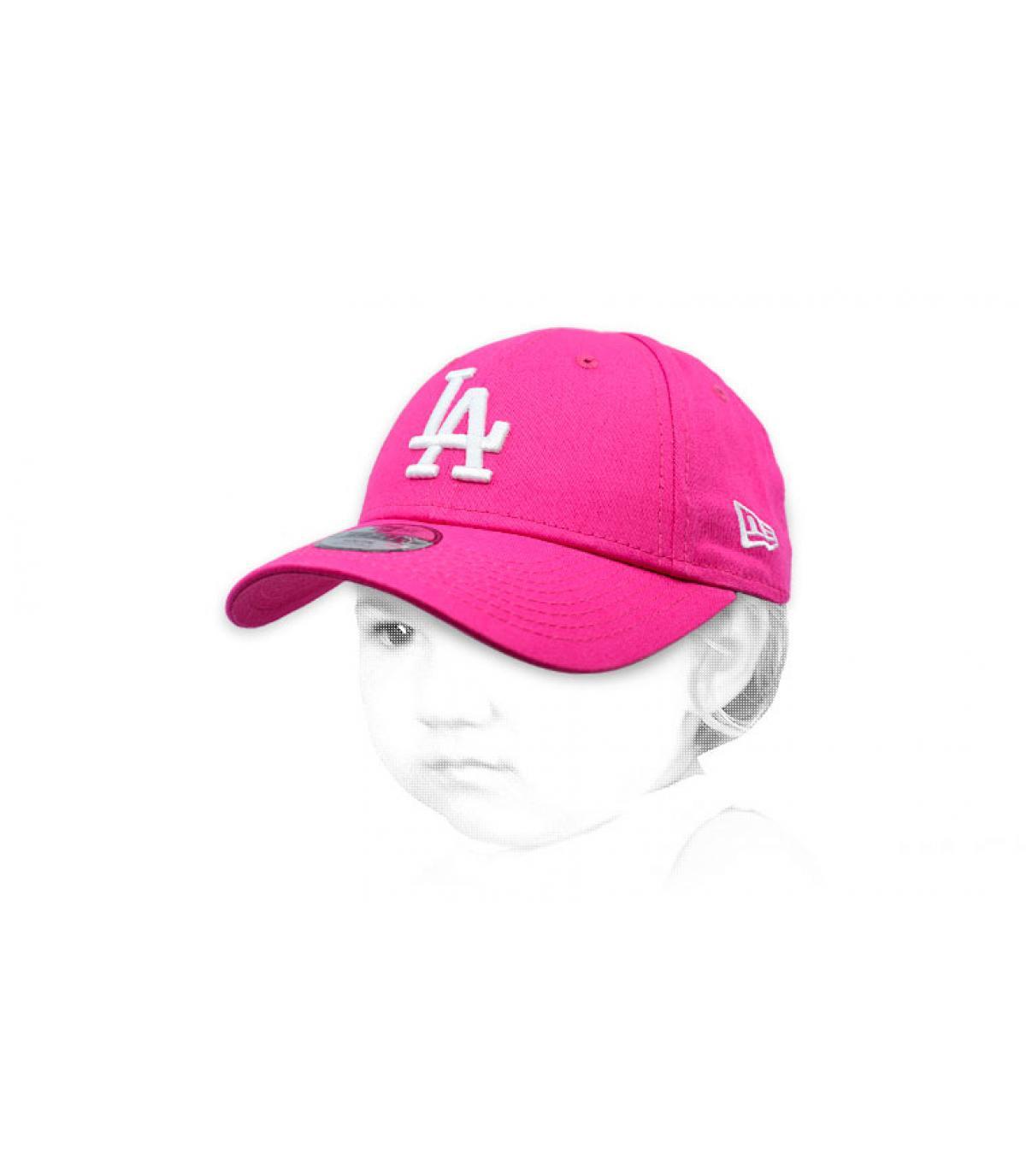 pink baby LA cap