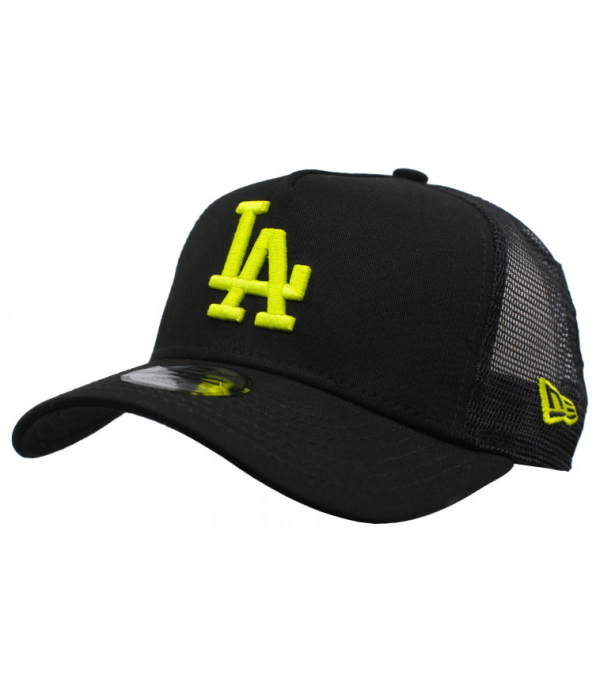 black yellow LA child trucker