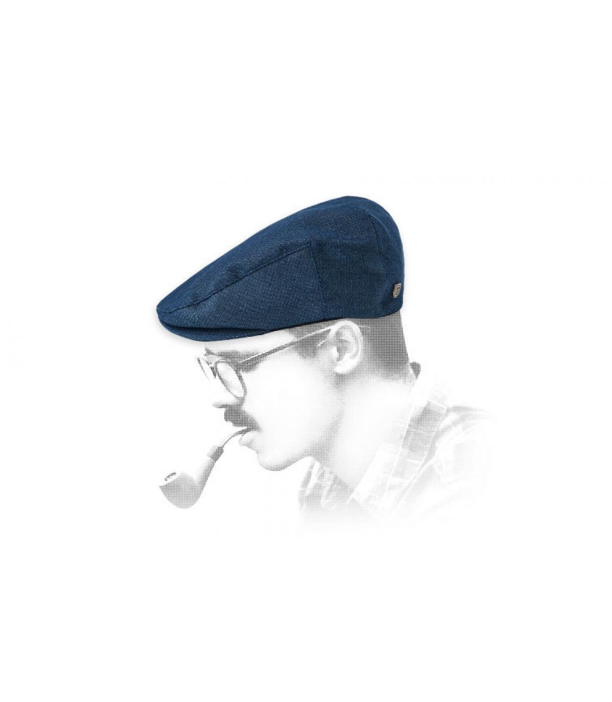 Brixton blue flat cap