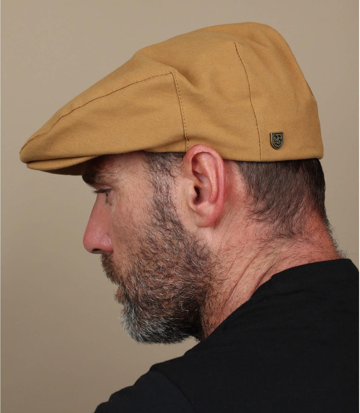 Brixton yellow flat cap