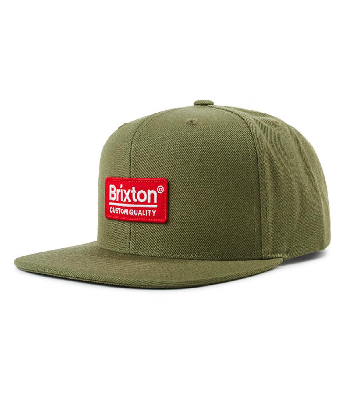 93510f704db58 olive-green snapback Brixton - Palmer II olive by Brixton. Headict