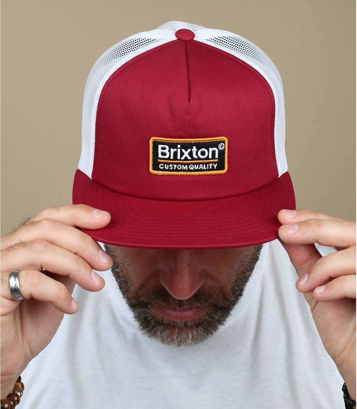 Brixton burgundy trucker