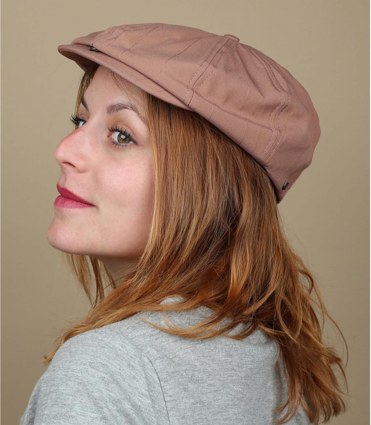 Brixton pink newsboy cap