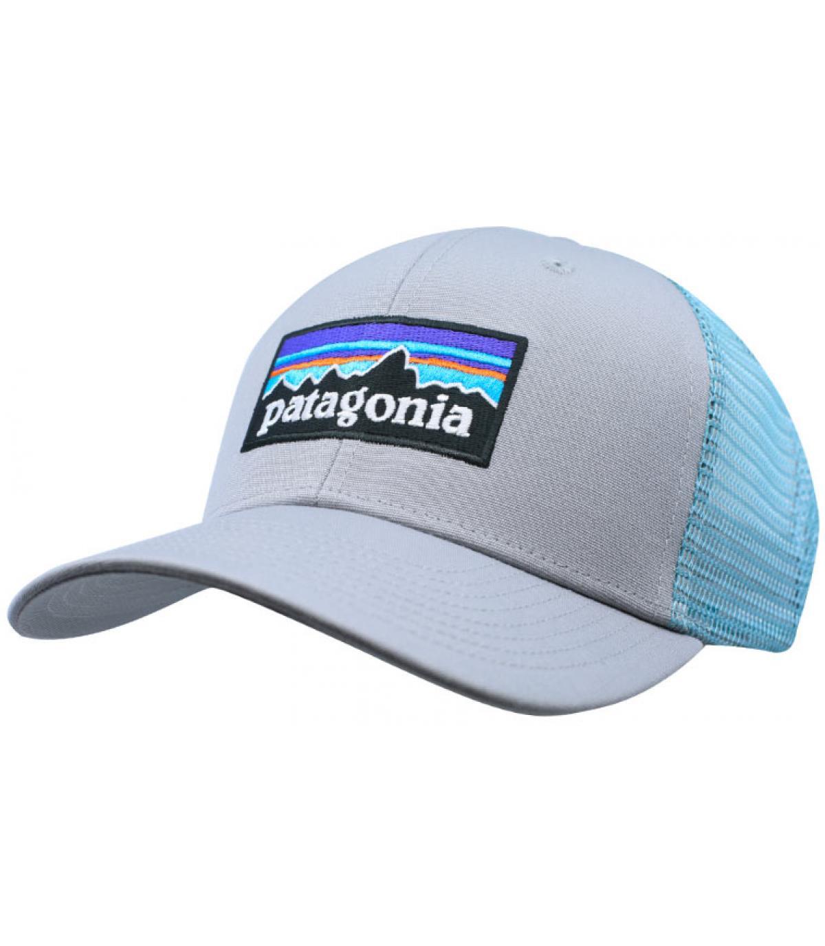 6204a23c0cf034 grey blue Patagonia trucker - P6 Logo Trucker drifter grey dam blue ...