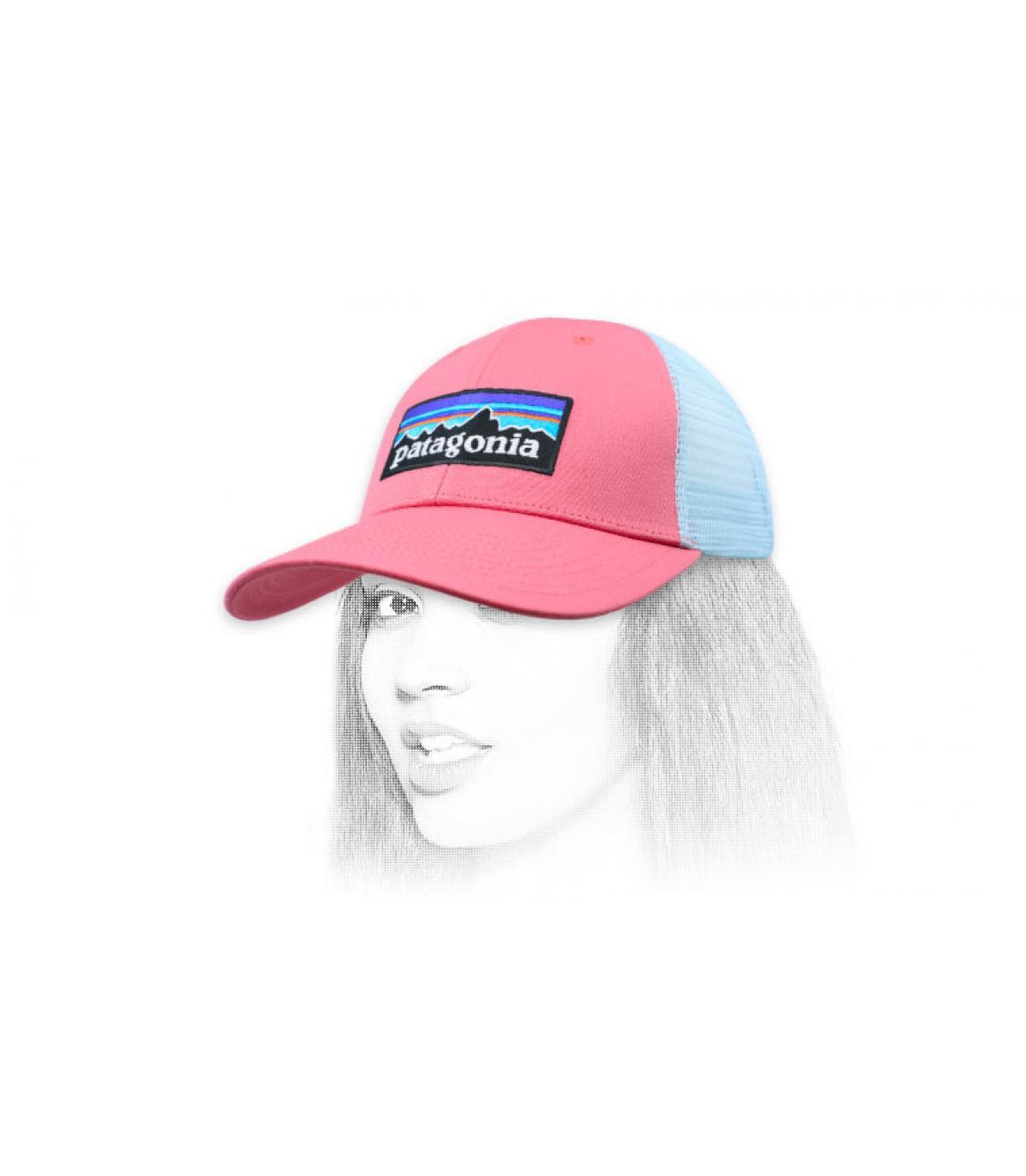 pink Patagonia trucker
