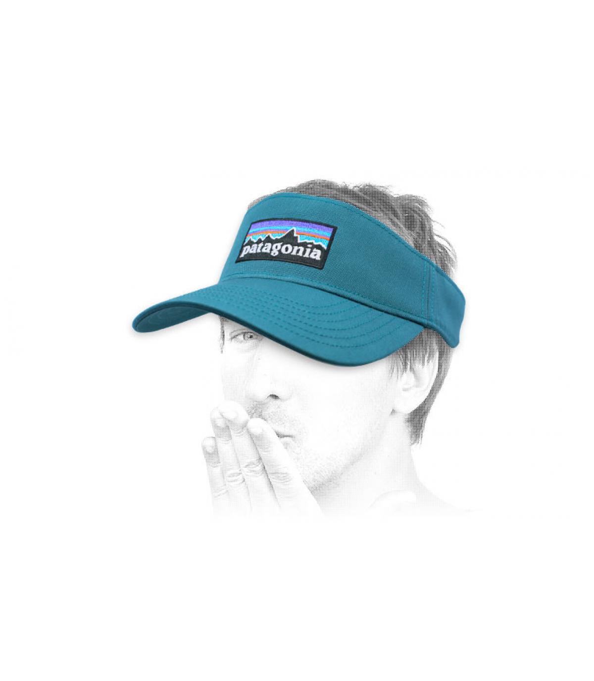 blue Patagonia visor