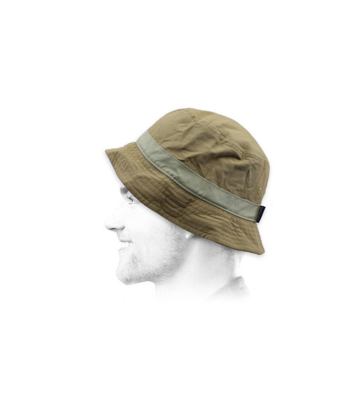 beige Patagonia bucket hat