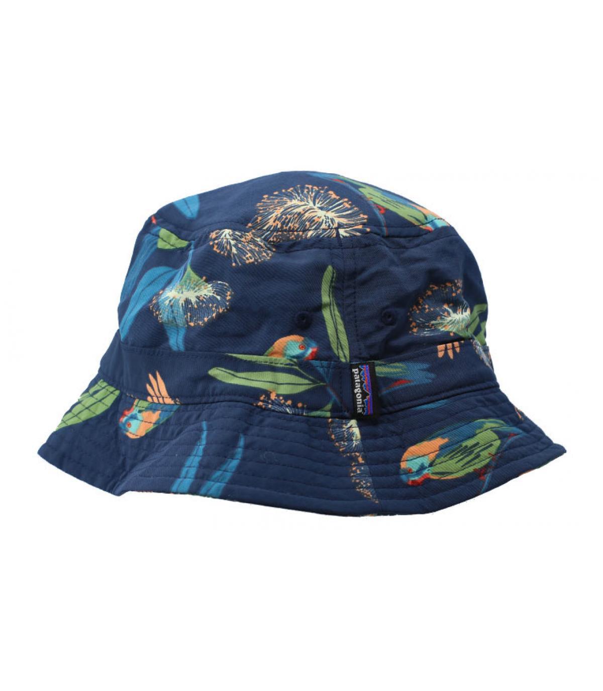 86c0e8826a7 printed Patagonia bucket hat. Détails Wavefarer Bucket Parrots stone blue -  image 4  Détails Wavefarer Bucket Parrots stone blue - image ...